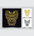 lion ornamental artwork vector image