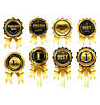 luxury golden badges with ribbons award for best vector image