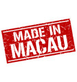 made in macau stamp vector image vector image