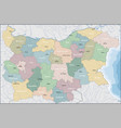 map of bulgaria vector image vector image