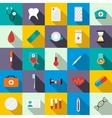 Medicine equipment icons set flat style vector image