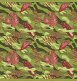 military seamless pattern with tropical leaves vector image vector image