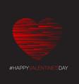 minimalistic valentines card vector image vector image