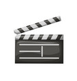 movie clapper with stripes film industry vector image vector image