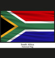 national flag of south africa vector image vector image