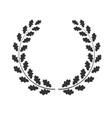 oak wreath isolated vector image vector image