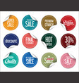 paper sale stickers collection 2 vector image vector image