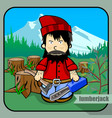 person profession lumberjack vector image vector image