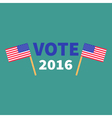 President election day 2016 Voting concept Two vector image vector image
