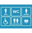 restroom iconsmenwomen lady man baby dummy vector image vector image