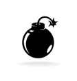 Round ball bomb one black color simple icon vector image vector image