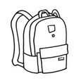 school or camping backpack vector image