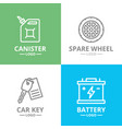 set of car service and auto repair logo vector image
