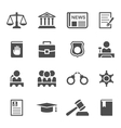 Set of law and justice icons vector image vector image