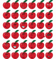 set of red apple character emojis vector image