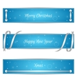 Set of three horizontal blue festive Christmas vector image vector image