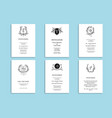 set wedding stationery vector image