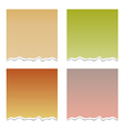 Set with torn paper vector image vector image
