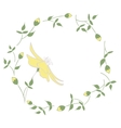 Spring Flower Wreath vector image