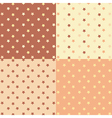 Stars seamless pattern set vector image