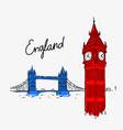 symbol attractions england vector image vector image