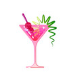 the cocktail is cosmopolitan vector image