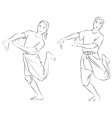The Thai national dances vector image