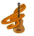 treble clef with guitar vector image vector image