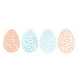 vintage easter eggs spring season isolated vector image vector image