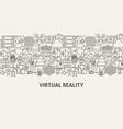 virtual reality banner concept vector image vector image