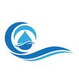 water wave logo icon vector image vector image