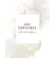 watercolor oil painting xmas 2021 design card vector image
