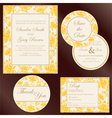 wedding cards yellow copy vector image vector image