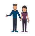 young couple avatar vector image