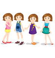Young girls vector image vector image
