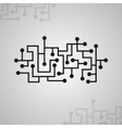 Microcircuit pattern electronic background chip vector image