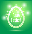 easter egg from strip on green with glow and bokeh vector image