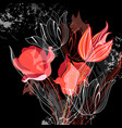 graphics with different tulips vector image