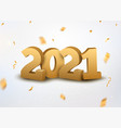 2021 new year logo happy premium banner eve vector image vector image