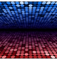 Abstract blue and red disco circles background vector image vector image