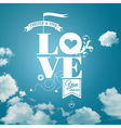 Abstract romantic card Realistic sky background vector image vector image