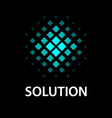 abstract tiled sphere icon solution symbol vector image vector image