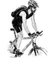 active cyclist vector image