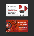 bbq and grill supplies business card design vector image vector image