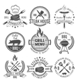 BBQ Graphic Flat Emblems vector image