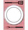 BBQ tools and plate vector image vector image