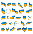 biggest collection of flags of Ukraine vector image vector image