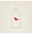 bird in a cage vector image vector image