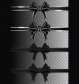 black ribbons with bows collection dark ribbons vector image