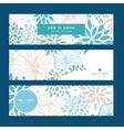 blue and gray plants horizontal banners set vector image